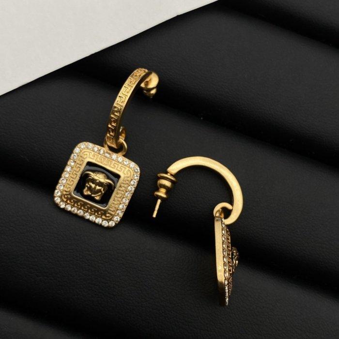 Square Epoxy Earrings