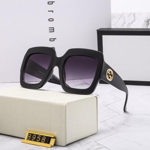 Large frame contrast color G8958 sunglasses