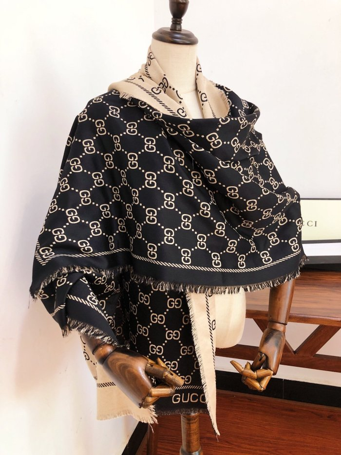 Classic jacquard double-sided long scarf