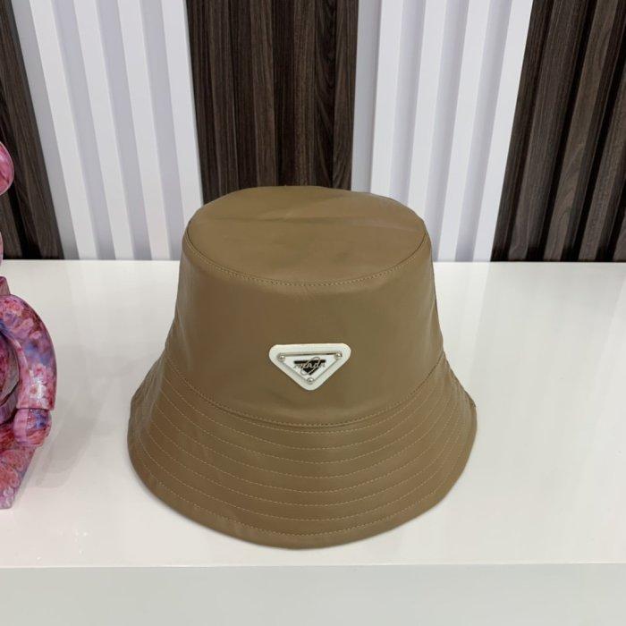 Double-sided PU leather zebra bucket hat