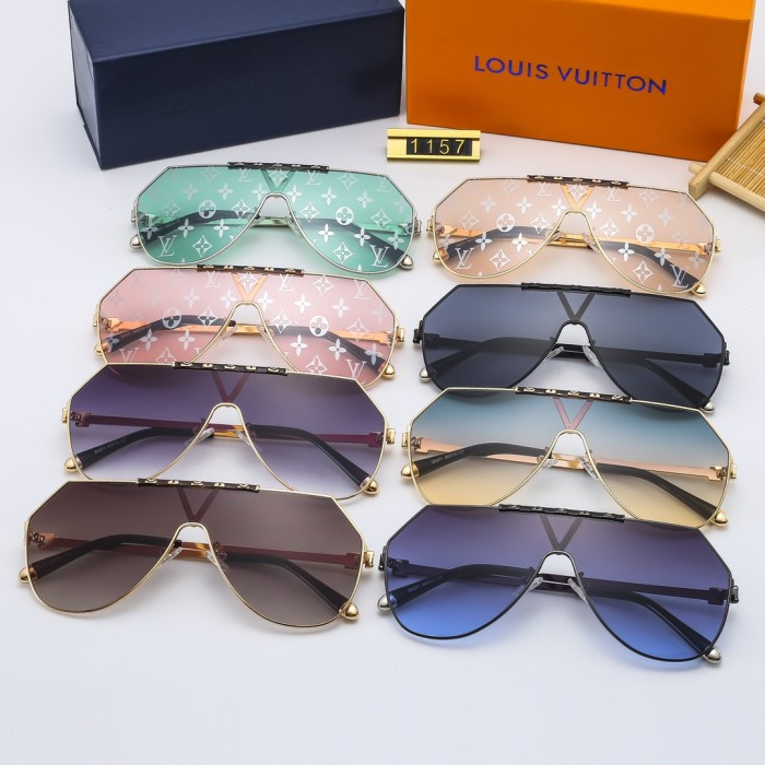 Printed High-definition One-piece Sunglasses