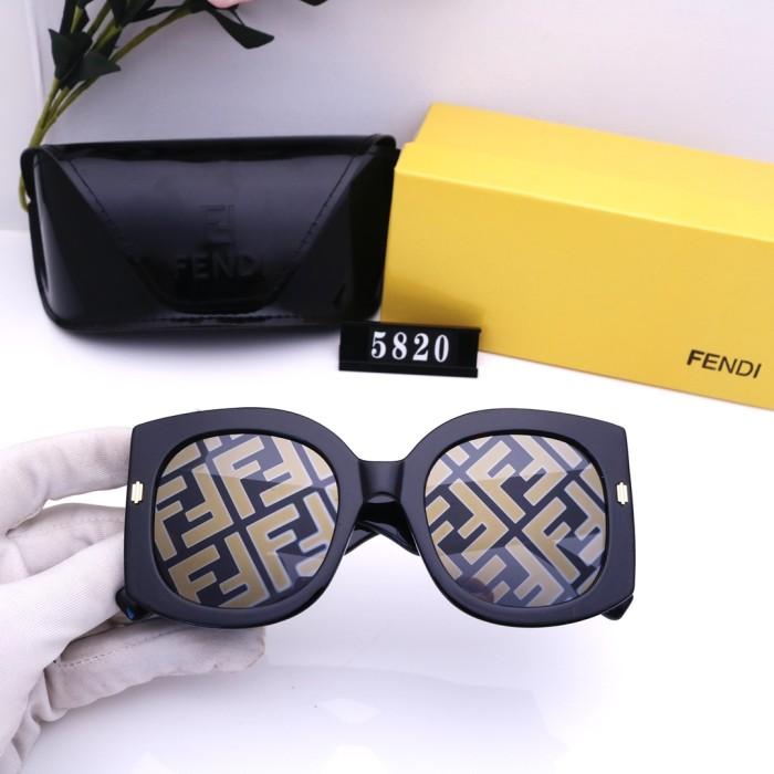 Fashion Printed Lens Big Frame Sunglasses