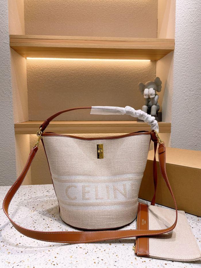 Simple Fabric Bucket Bag