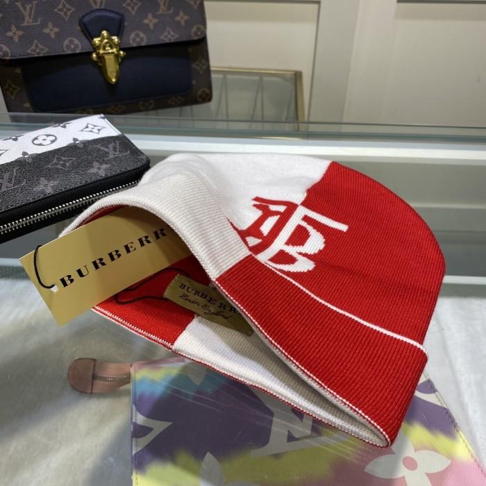 Cashmere Contrast Knit Hat