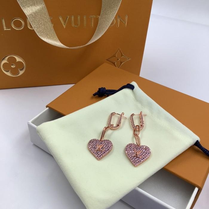 Love Crystal Diamond Earrings