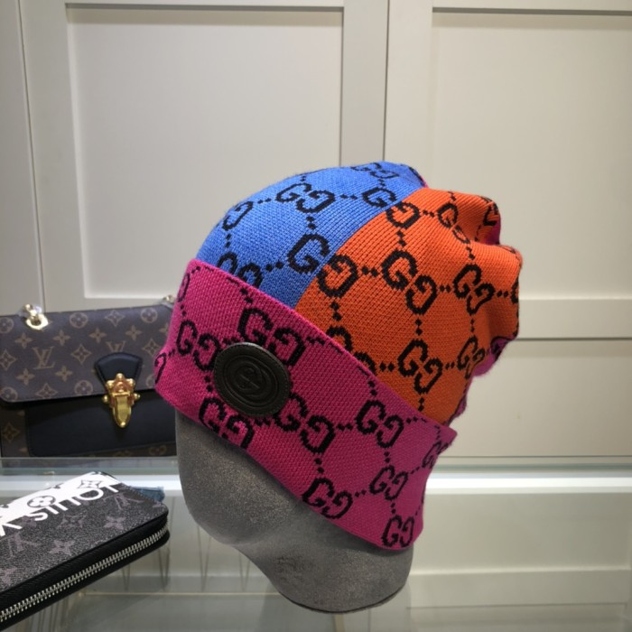 Personalized Color-block Cashmere Knitted Hat