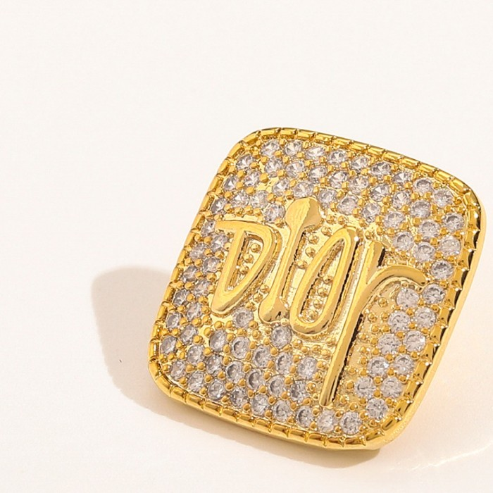 Square Diamond Stud Earrings