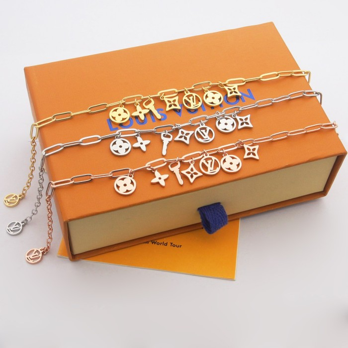 Fashion Key & Flower Series Thick Bracelet