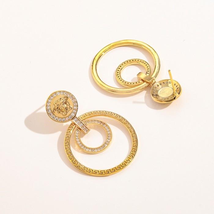 Large Circle Diamond Earrings