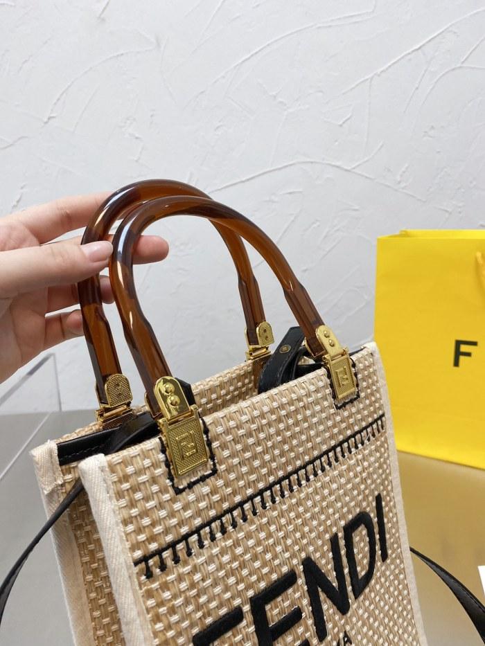 Raffia Straw Tote Bag