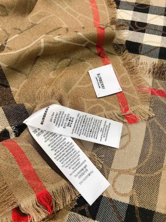 Fashion Metal Silk Wool Scarf