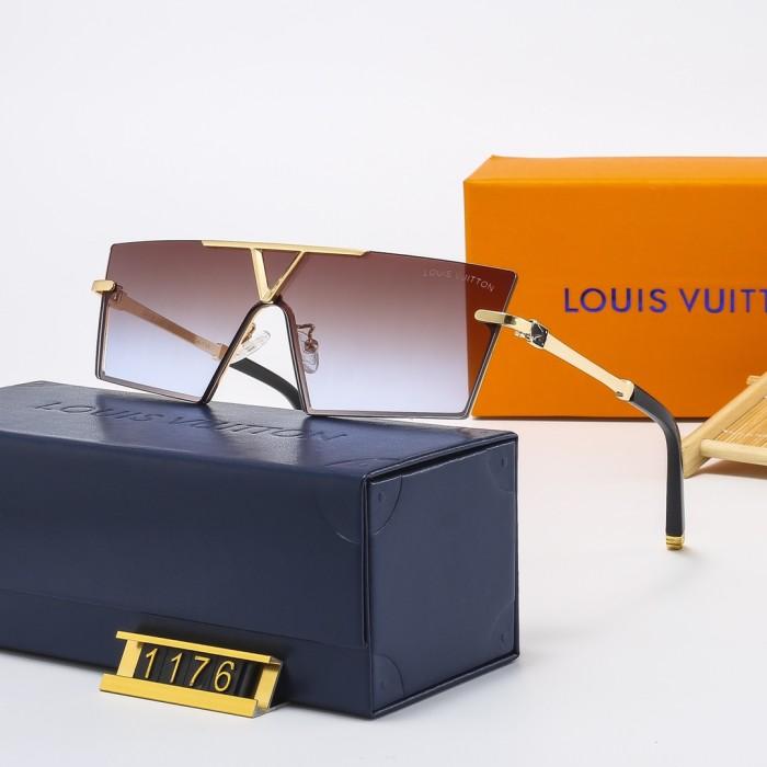 Classic Half-metal Frame One-piece Sunglasses