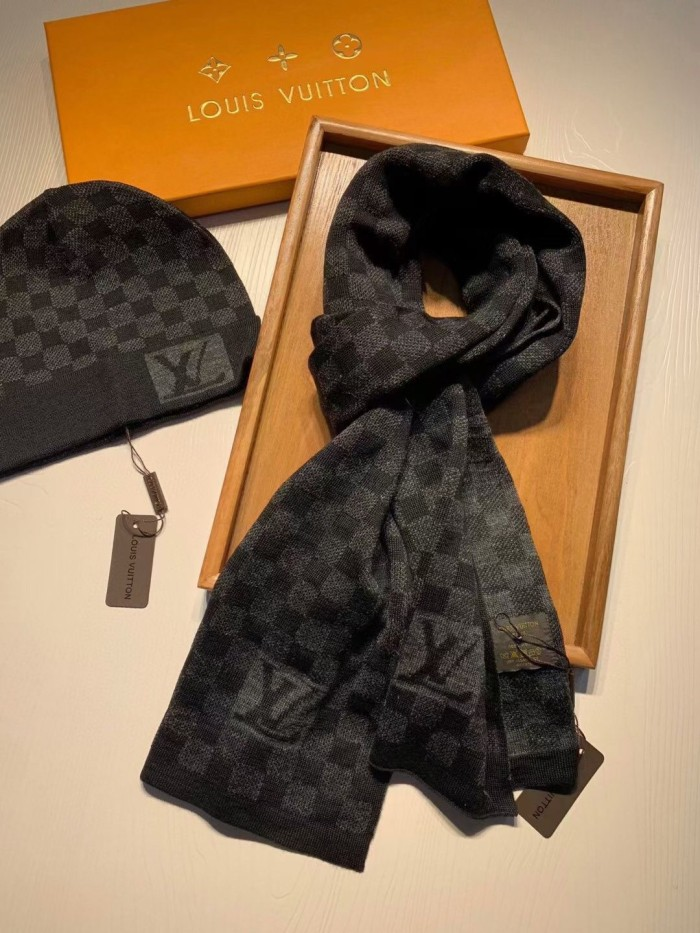 Wool Knitted Scarf & Hat Combo Set