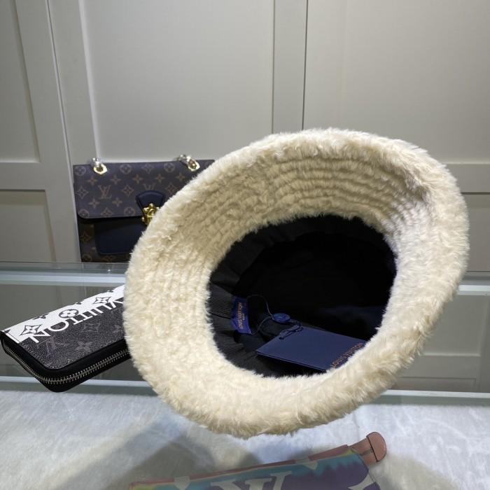 Denim Plush Warm Bucket Hat