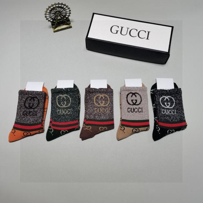 Classic Gold Double G Socks