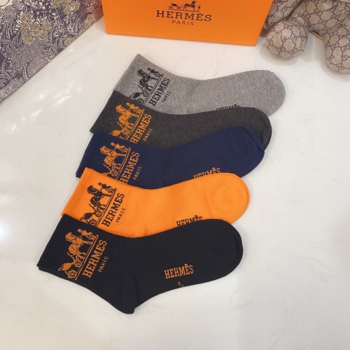 Classic Embroidered Long Socks