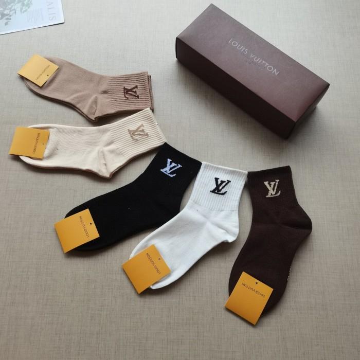 Classic Letter Logo Short Socks