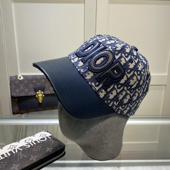 Fashion Leather Stitching Baseball Cap