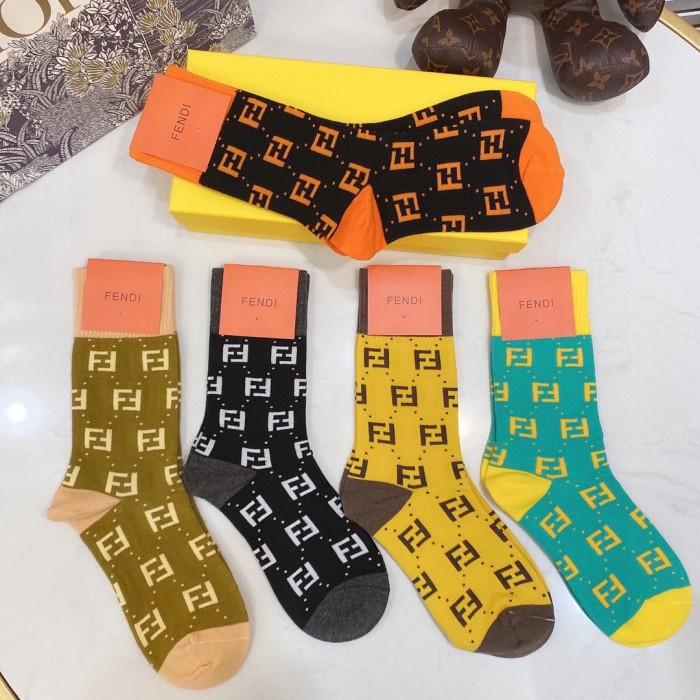 Fashion Color Matching Long Tube Pile Socks