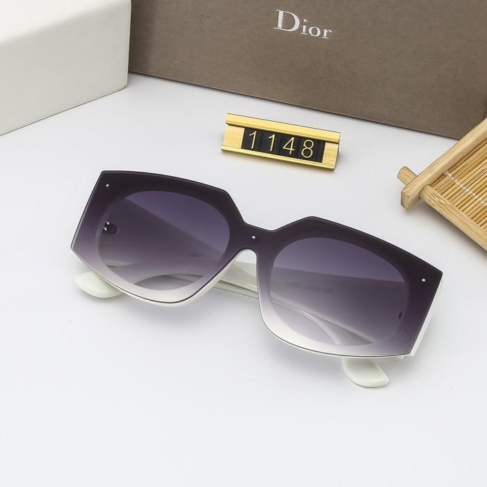 Fashion Big Frame Gradient Color Sunglasses
