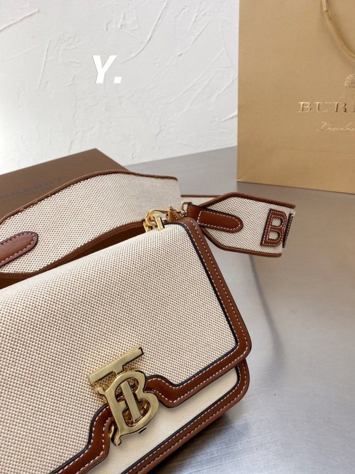 Classic Embroidered Letter Small Square Bag