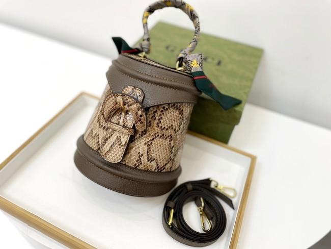 Snake Print Tote Bucket Bag
