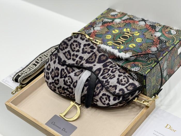 Leopard Print Saddle Bag