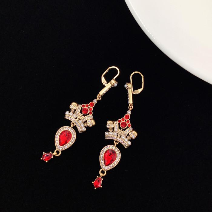 Ruby Mid-Length Earrings