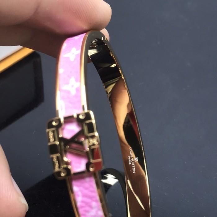 Fashion Leather Pink Bracelet