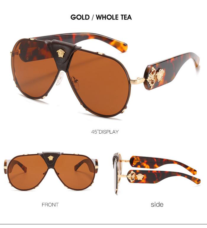 Retro Leather Case Toad Driving Sunglasses