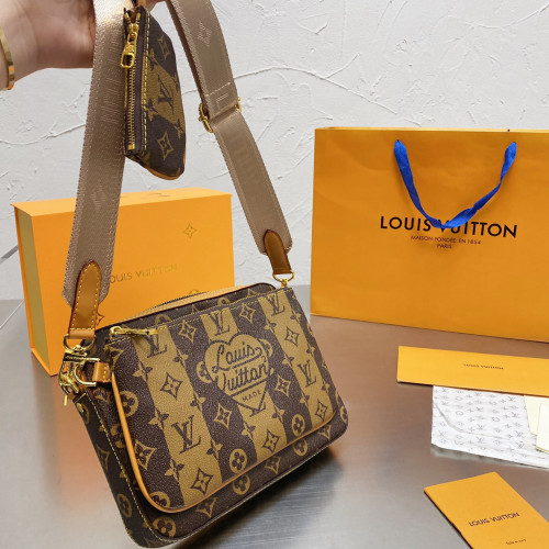Classic Printed 3-in-1 Small Square Bag
