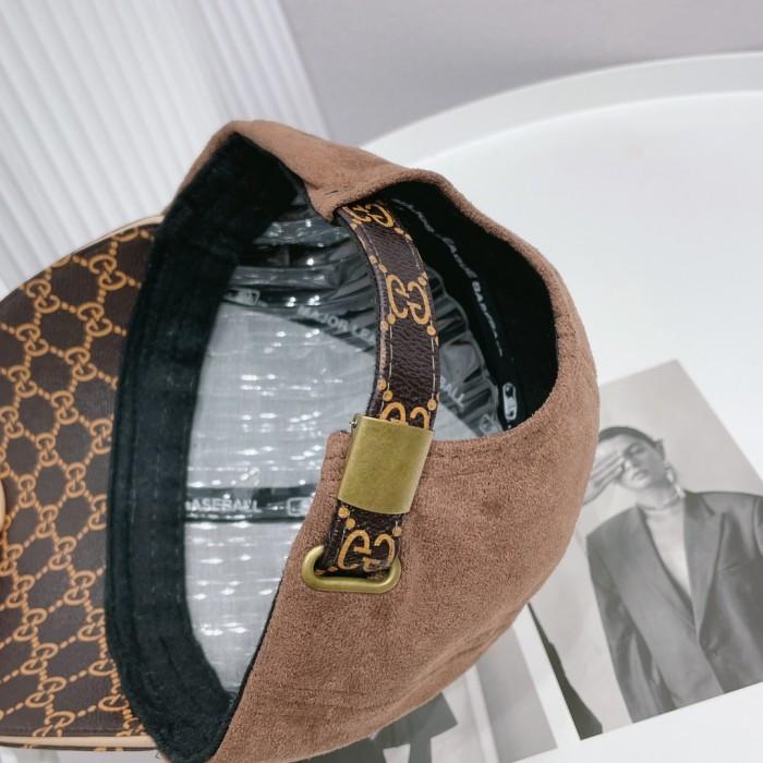 Fashion Leather & Cloth Stitching Baseball Cap