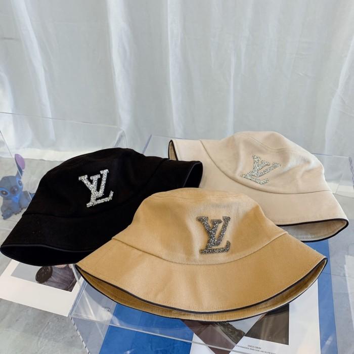 Simple Rhinestone Logo Bucket Hat