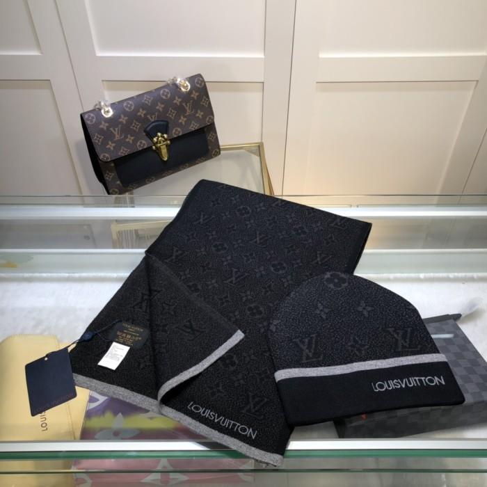 MONOGRAM ECLIPSE Scarf&Knit Hat Set