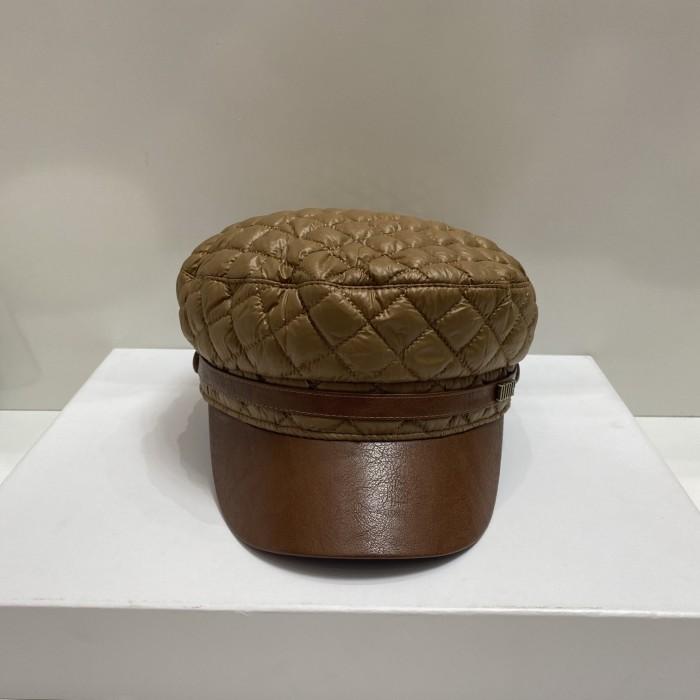 Temperament Pressure Line Leather Hat