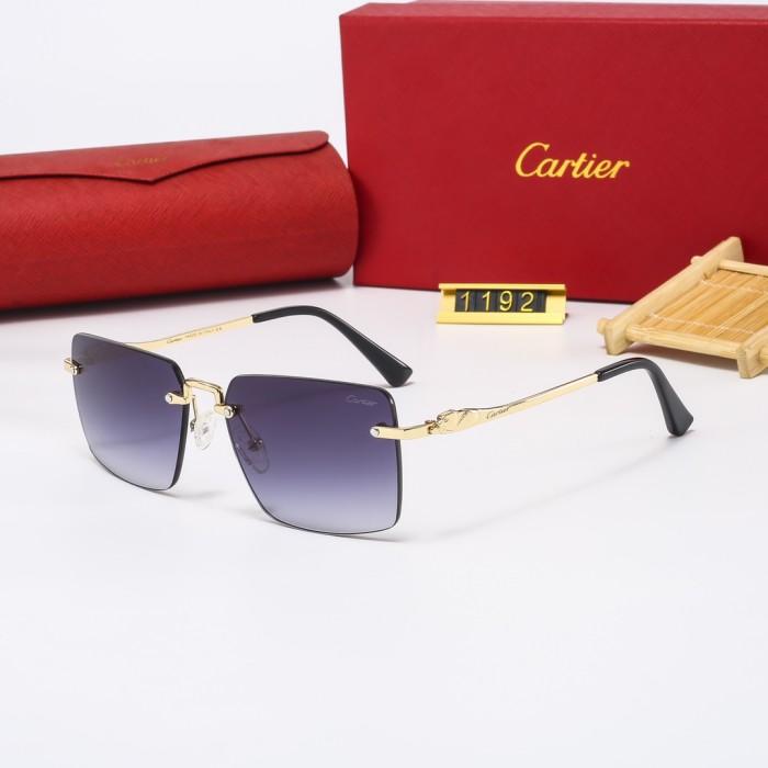 HD Frameless Small Square Sunglasses