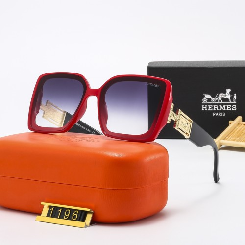 Large Frame Metal Stitching Temple Sunglasses
