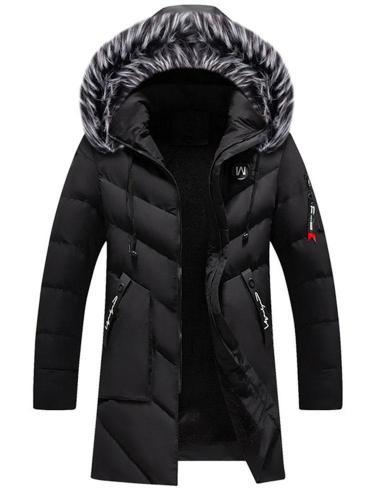 Mid-Length Casual Zipper Down Jacket