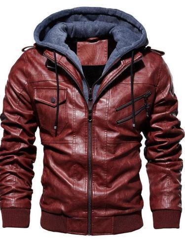 Plain Hooded Slim Casual Jacket
