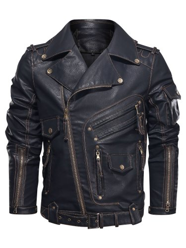 Color Block Stand Collar Patchwork Slim Single-Breasted Jacket