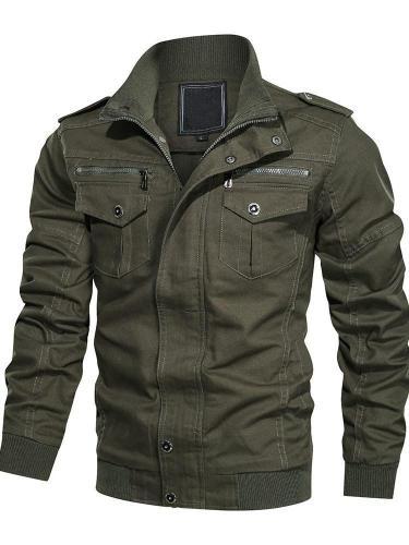 Patchwork Stand Collar Slim Winter Jacket