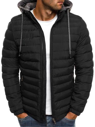 Winter Hooded Jacket Men Thicken Jacket Thick Warm Lightweight Parka Men's New Windproof Jacket