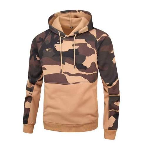 Camouflage Sweatshirt Men Hip Hop Cotton Tracksuit Men Hoodie Coat Hoodie