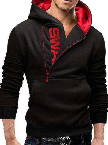 New male sweatshirt fashion autumn & winter hooded with zipper hooded colors and add upset sweatshirt plus size Men Cloth Jacket