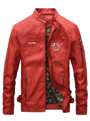 Men Jacket Men's casual retro motorcycle jacket autumn and winter plus velvet men's jacket Men Cloth