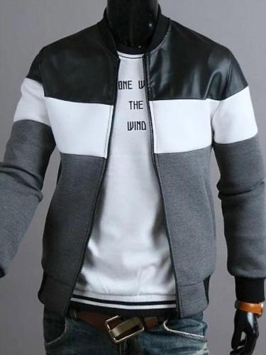 Casual fashion jacket stitching design jacket jacket new men's spring and autumn  selling men's jacket Men Cloth