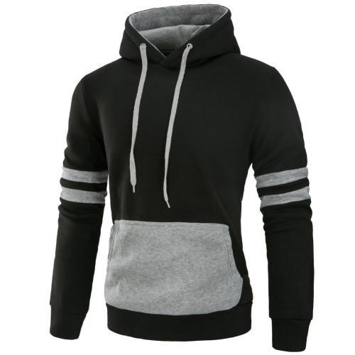 Casual Fashion Plain Mens Jacket Pullover Hoodie Casual Sweatshirt Jacket Hoodies