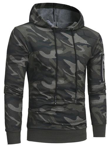 Men's Long Sleeve Hoodie Camouflage Pullover Sweatshirt Tops Coat Sportswear Cloth