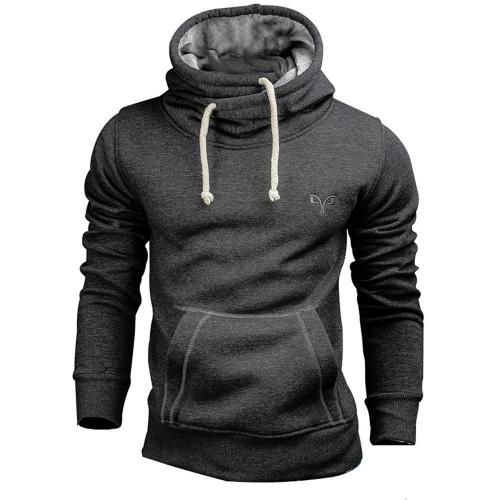 Mens Solid Color Long Sleeve Slim Fit Hoodies Sweatshirts Men clothing