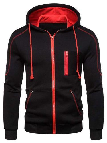 Men's Hoodie, Men Autum Winter Long Sleeve Hooded Sweatshirt Zipper Outwear Tops Blouse Men Cloth Jacket